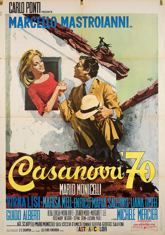 casanova 70, With Marcello Mastroianni, 1965 Mixed Media