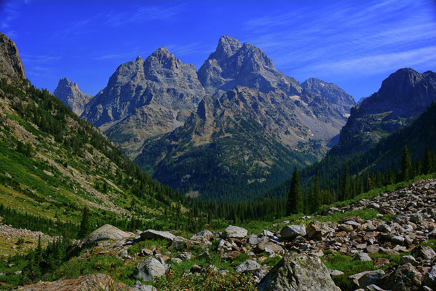 Cascade Canyon and The Cathedral Group by Raymond Salani III