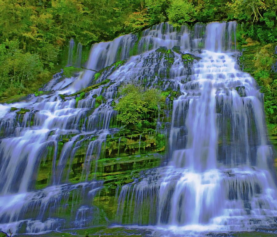 Cascading Waterfalls Photograph