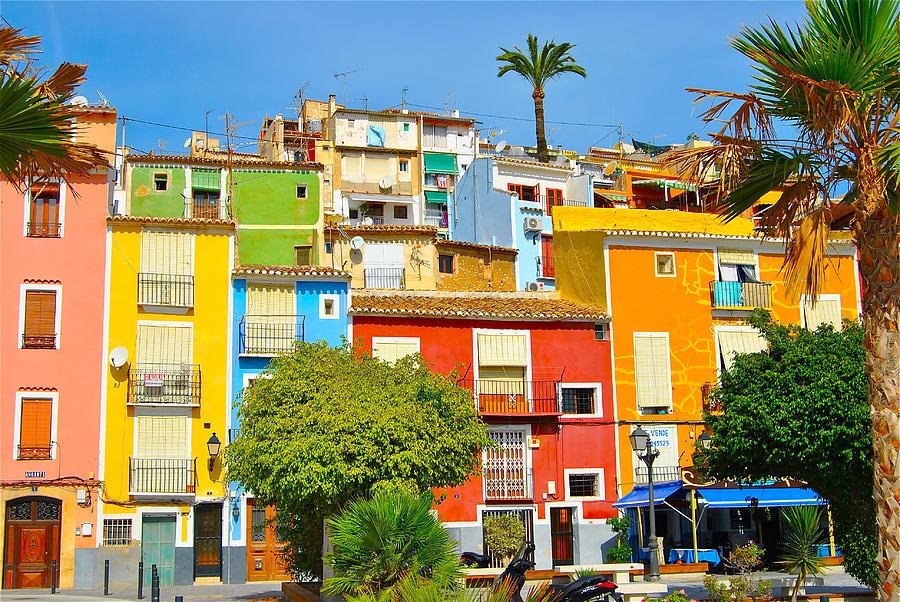 Casitas de Muchos Colores Photograph by A Richard Poolton Image