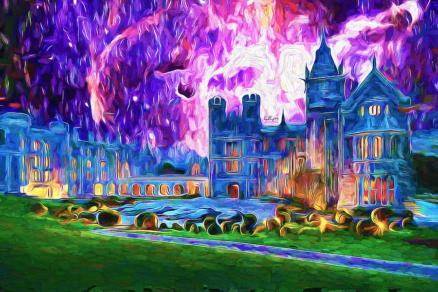 Castle Adare Manor Starry Night Painting
