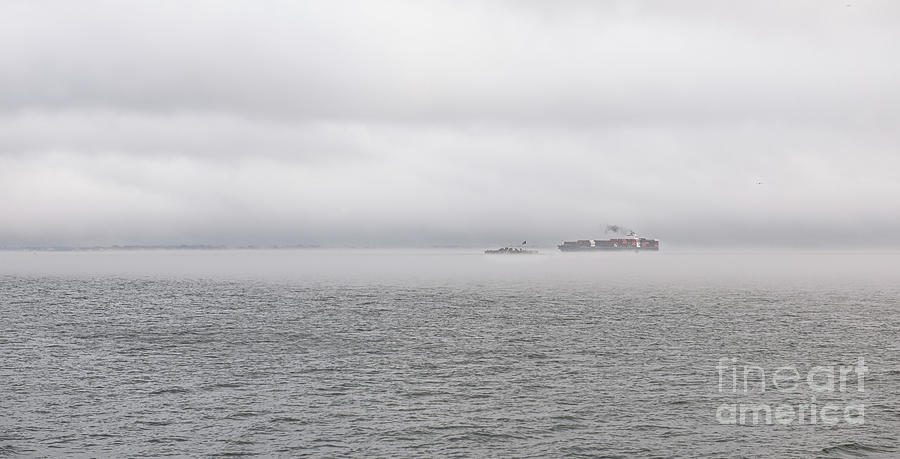 Castle Pinckney - Sea Fog Photograph