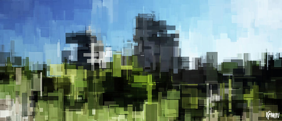 Digital Digital Art - Castrum moderne by The KMoon