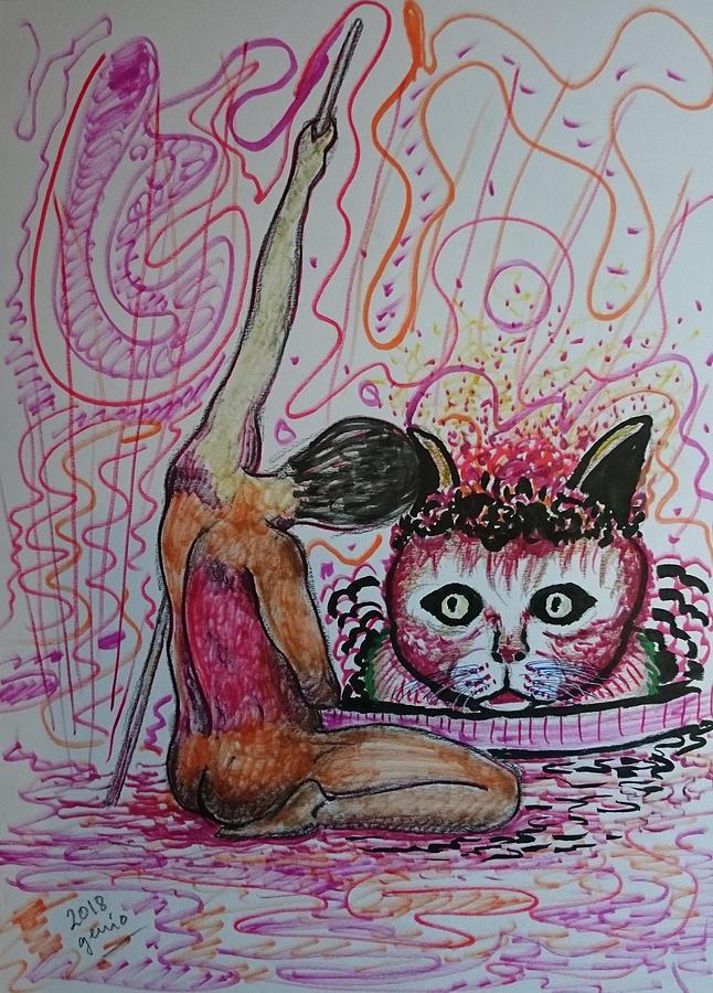 Cat Genius Studies Human Drawing