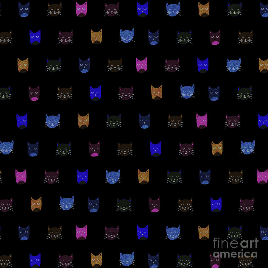 Cat Mixed Media - Cat Heads by dep Arts