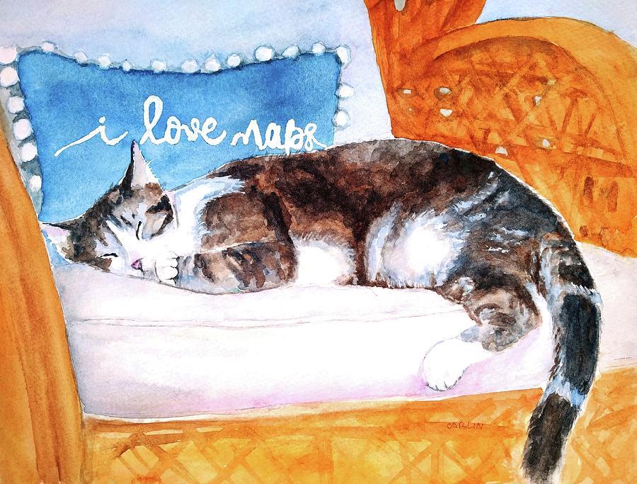 Cat Nap by Carlin Blahnik CarlinArtWatercolor