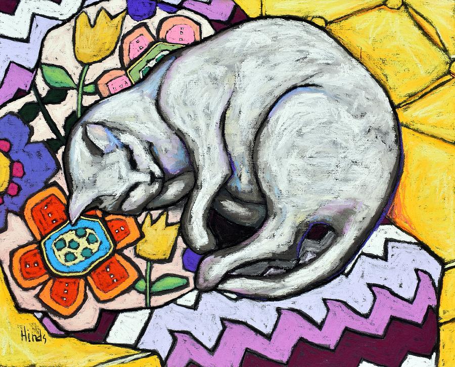 Cat Nap Painting