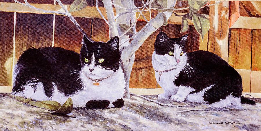 Cat Painting by Douglas Castleman