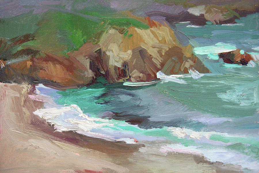 Catalina Rocks Painting by Betty Jean Billups