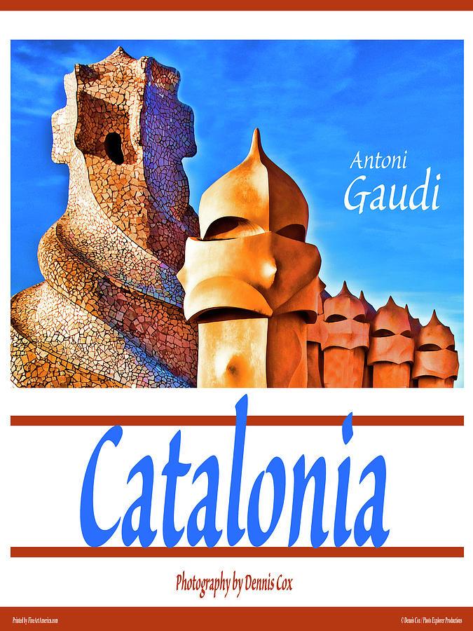 Catalonia Travel Poster Photograph