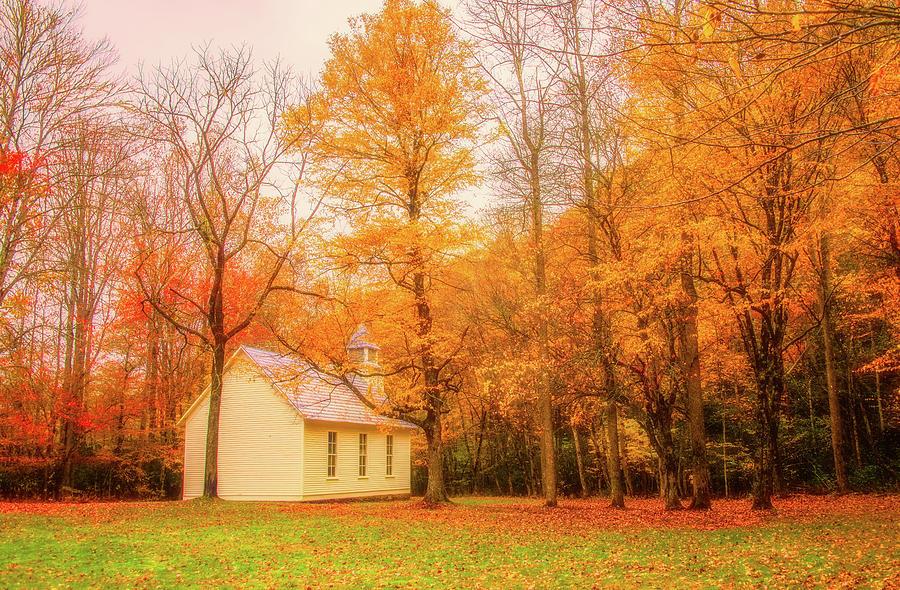 Cataloochee Valley in Autumn by Marcy Wielfaert