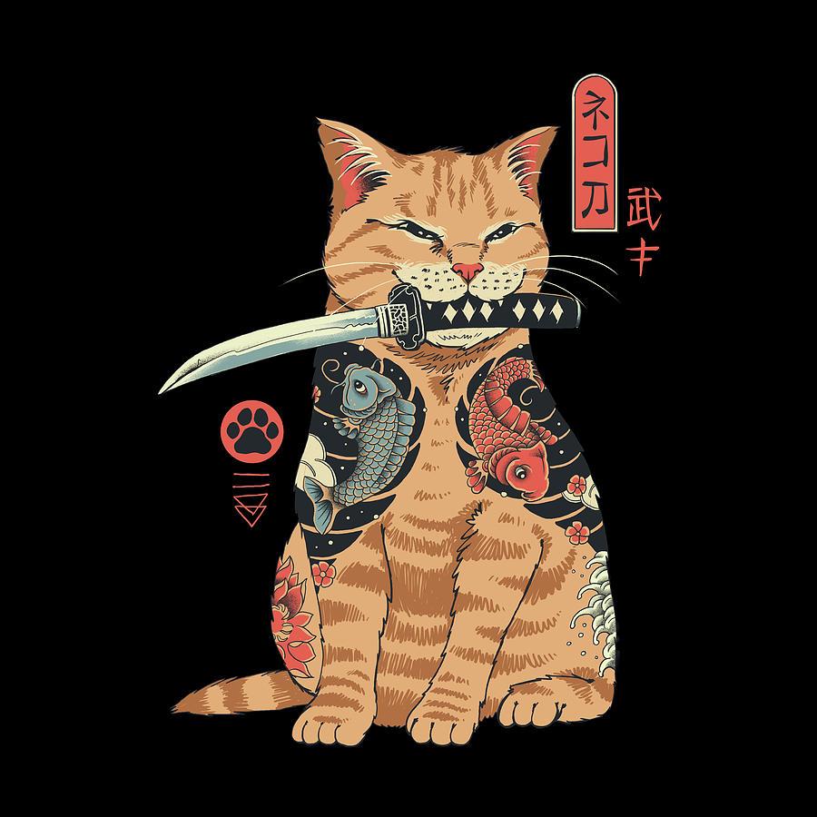 Cat Digital Art - Catana by Vincent Trinidad