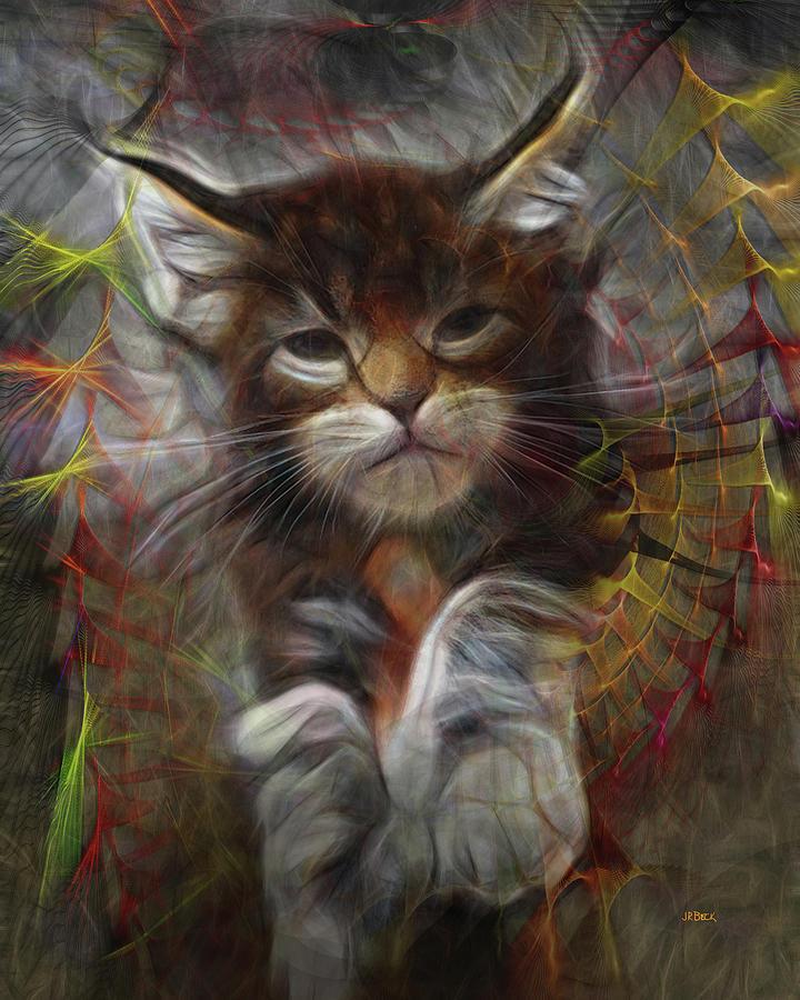 Cat Digital Art - Catatude by John Robert Beck
