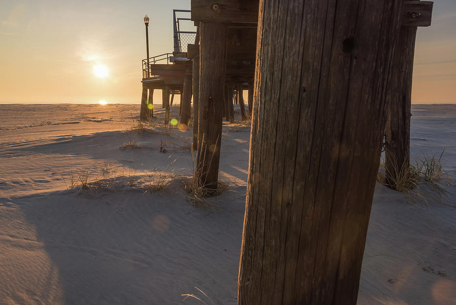 Wildwood Crest Photograph - Catching Rays by Kristopher Schoenleber