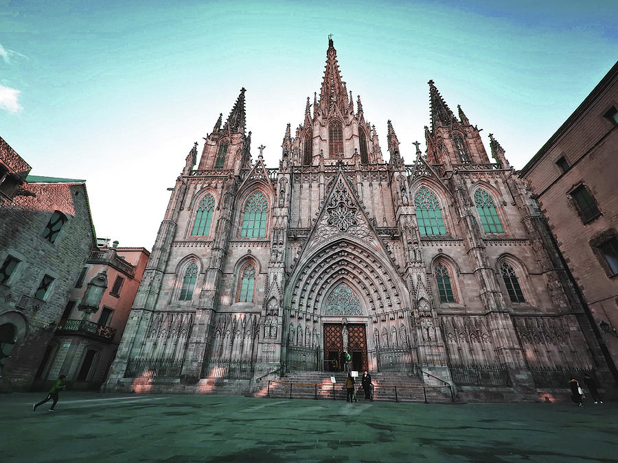 Catedral, Barcelona, Spain - Surreal Art By Ahmet Asar Digital Art