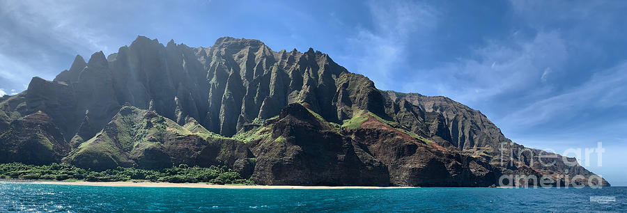 Cathedral Peaks Na Pali Coast by Gary F Richards
