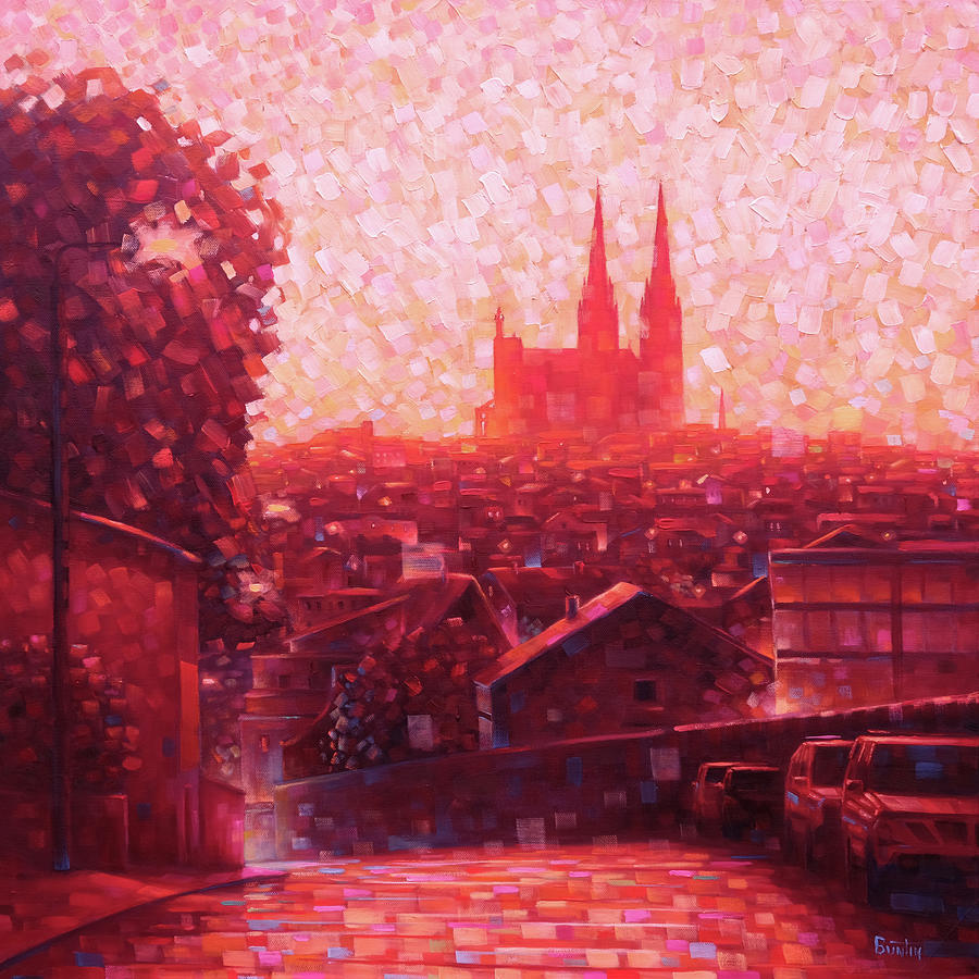Cathedral Painting - Cathedral Sunrise by Rob Buntin