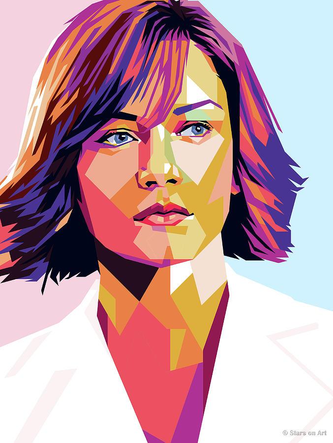 Catherine Zeta-jones Illustration Painting