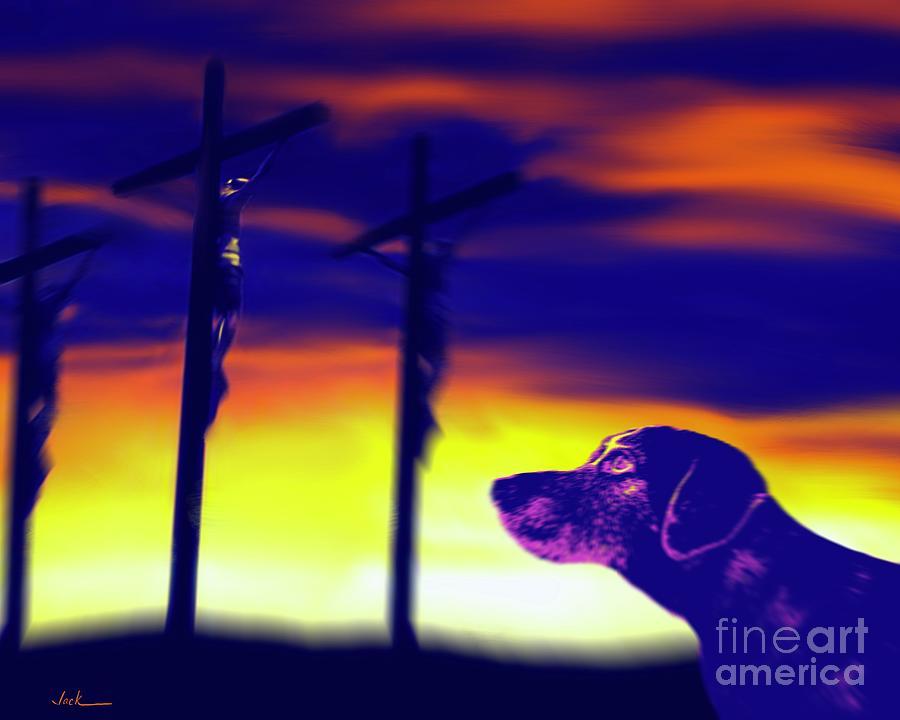 Lab Painting - Catholic Lab by Jack Bunds