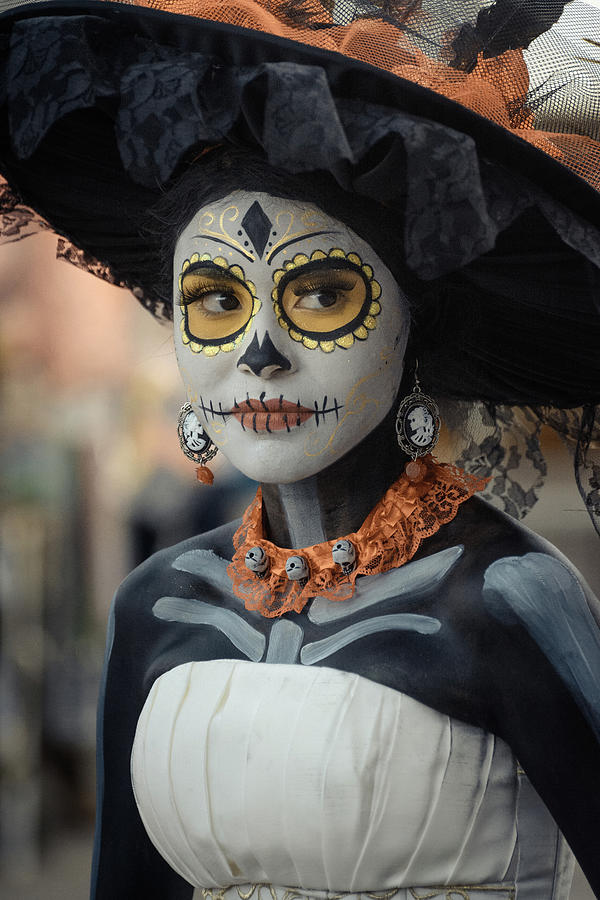 Catrina Photograph - Catrina on the Day of the Dead by Dane Strom