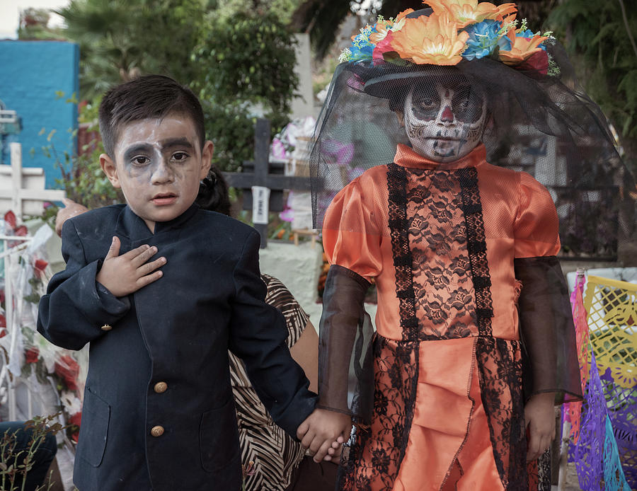 Day Of The Dead Photograph - Catrines on the Day of the Dead in Mexico by Dane Strom