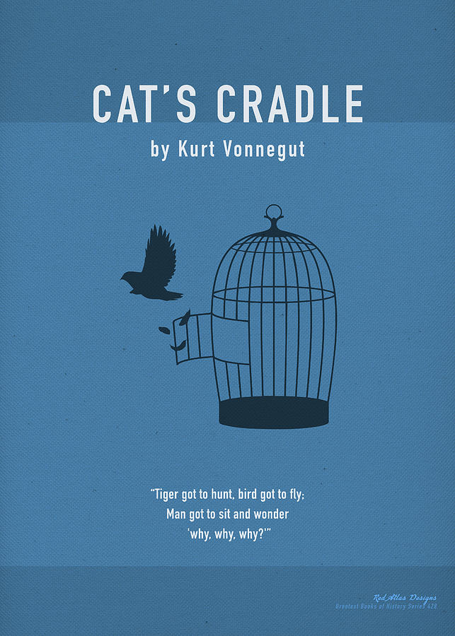 Cats Cradle by Kurt Vonnegut Greatest Books Ever Art Print Series 428 Mixed  Media by Design Turnpike