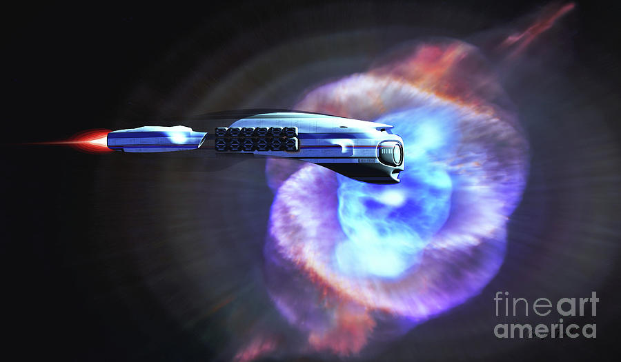 Cats Eye Nebula Starship Digital Art