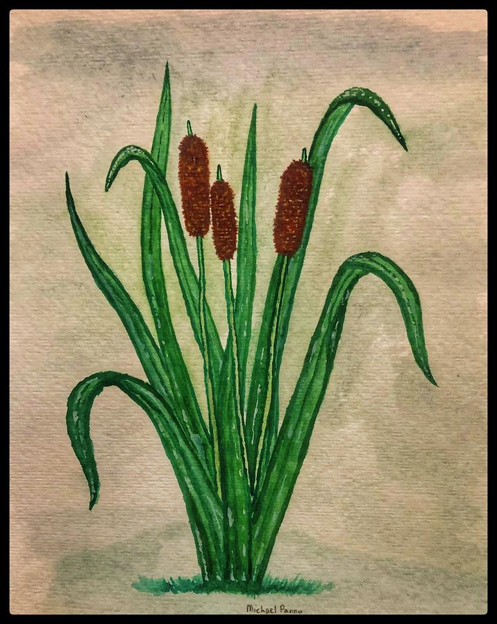 Cattails W/ Boarder Painting