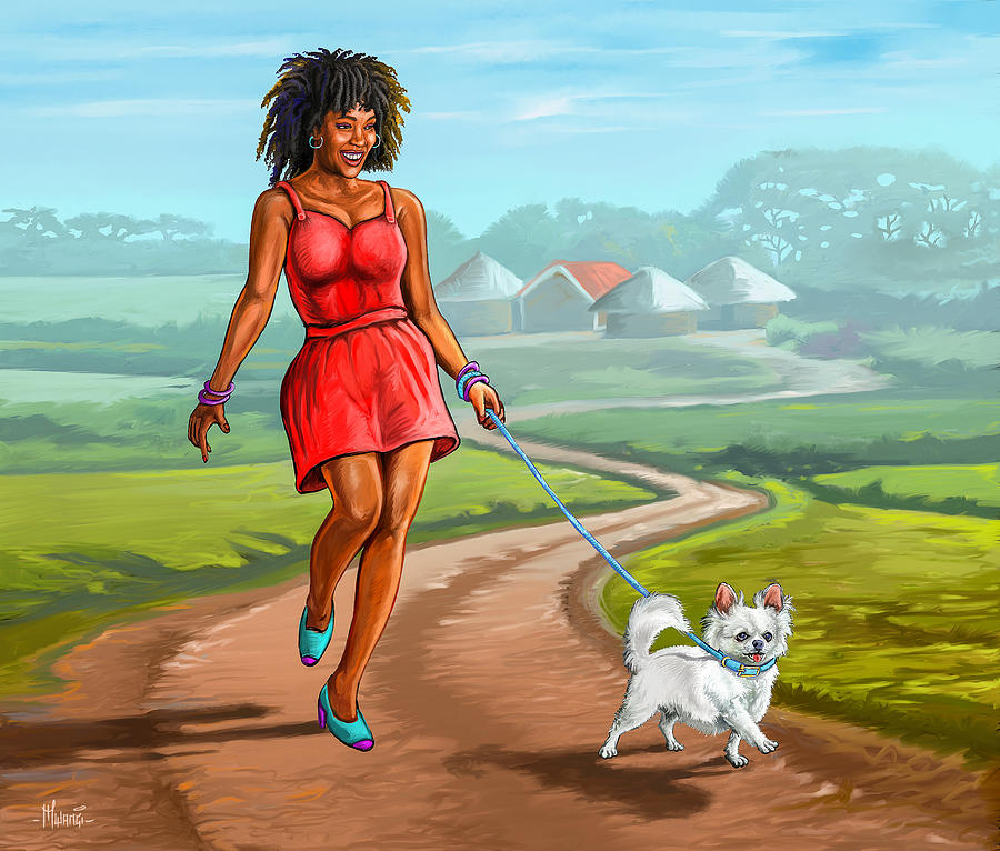 Catwalking The Dog Painting