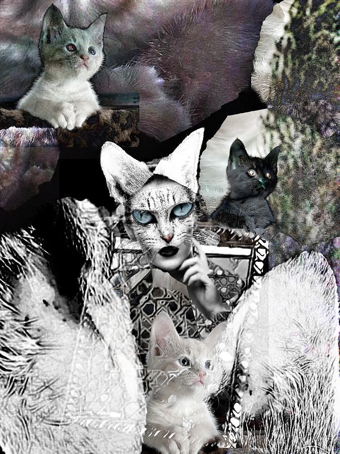 Surrealism Digital Art - Catwoman by Gunilla Munro Gyllenspetz