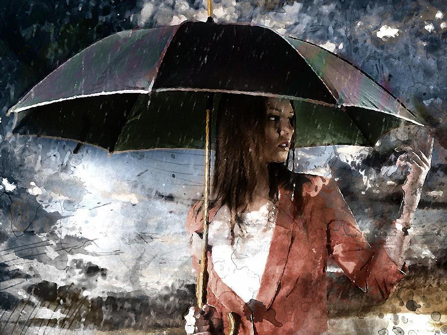 Caught In The Rain Mixed Media