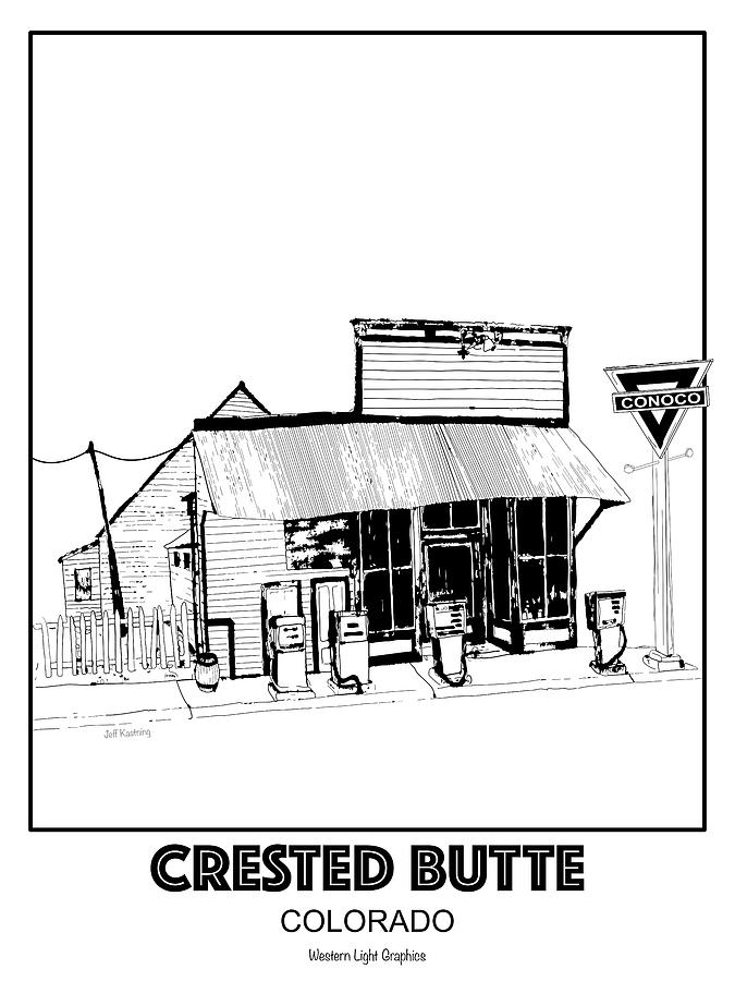 CB Conoco Station  by Jeff Kastning