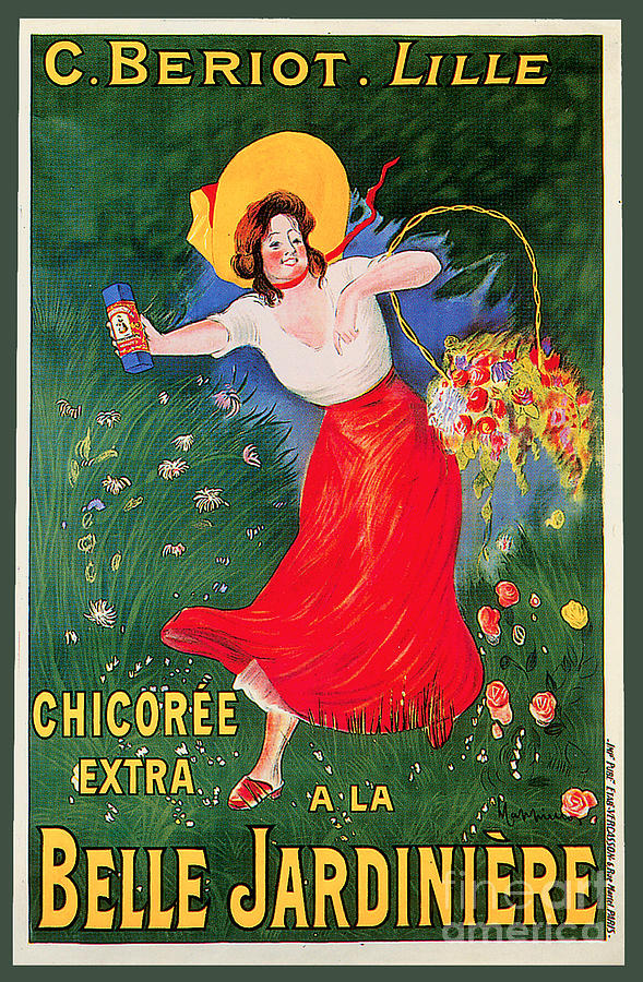 C.beroit.lille Chicoree Extra A La Belle Jardiniere Advertising Poster Painting