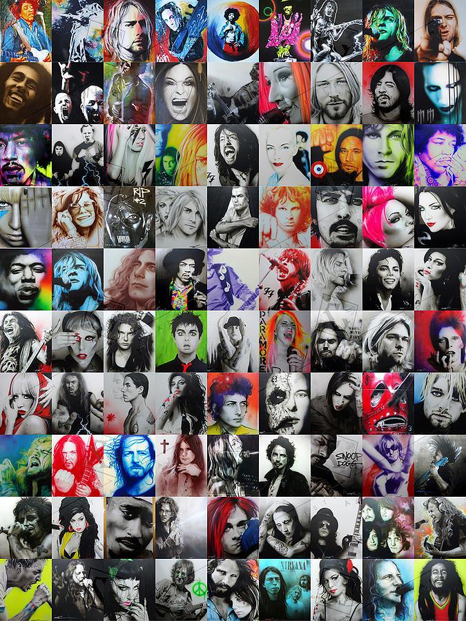 Kurt Cobain Painting - CCArt Mosaic - Series I  by Christian Chapman Art