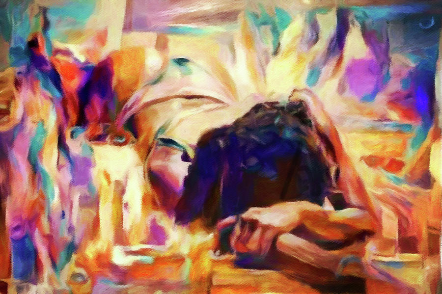 Cecilia Sleeping Digital Art