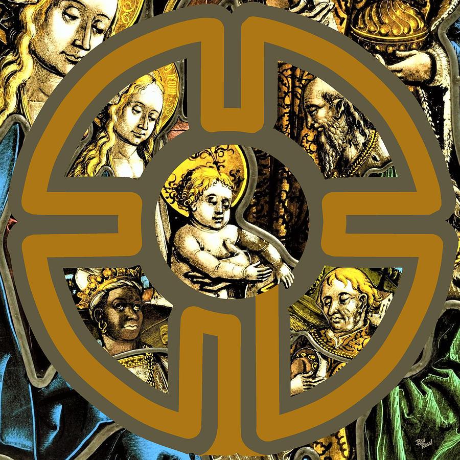 Christmas Digital Art - Celebrating the Christmas Story Known as the Epiphany aka Three Kings Day by Bill Ressl