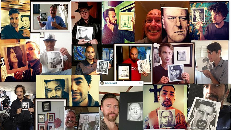 Breaking Bad Photograph - Celebs With My Art by Rick Fortson