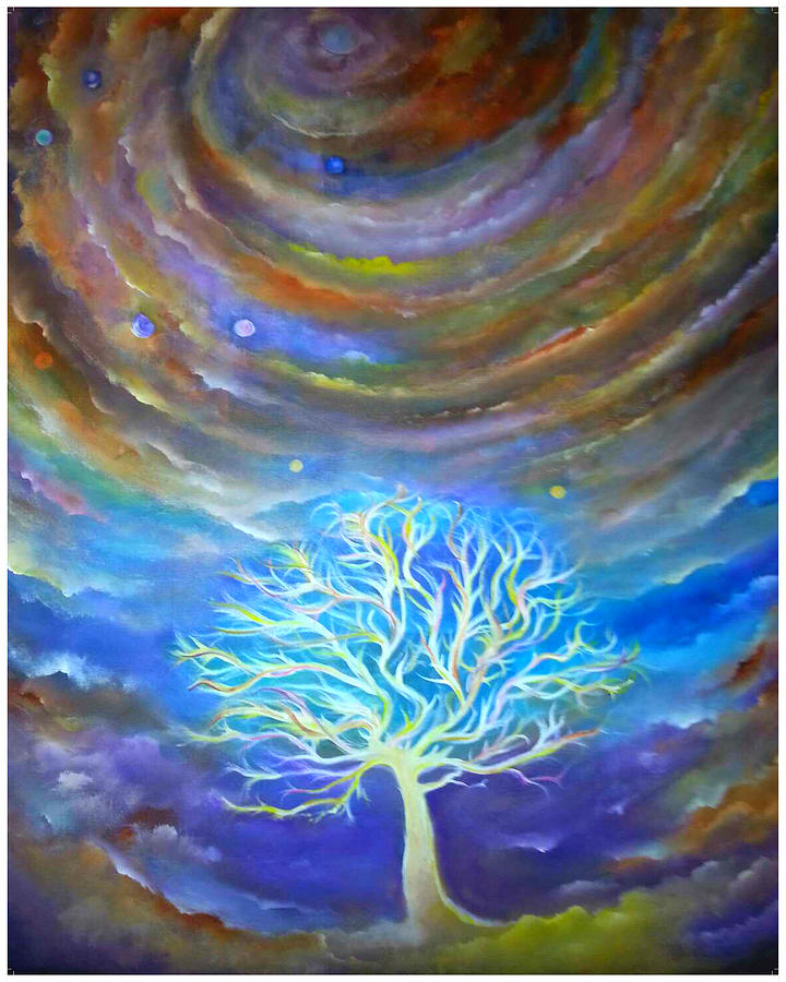 Celestial Tree Painting by Lily Nava-Nicholson