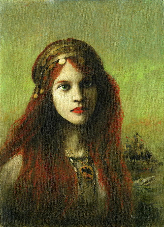 Celtic Girl Painting