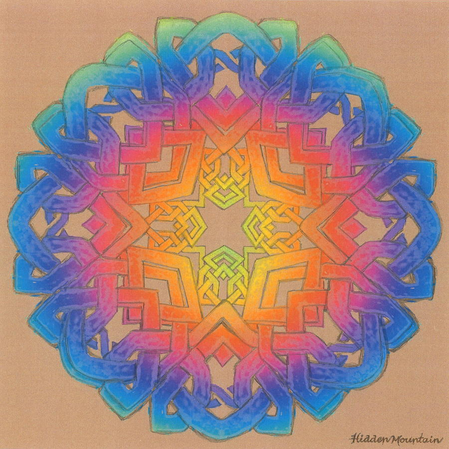 Celtic Knot Painting - Celtic Knot 4 22 2021 by Hidden  Mountain