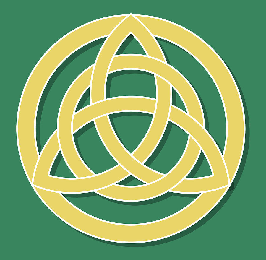 Triquetra Drawing - Celtic Trinity Knot by Greg Joens