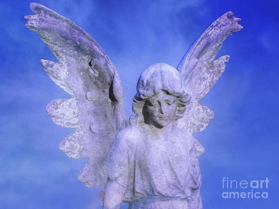 Cemetery Angel Grave Monument Digital Art