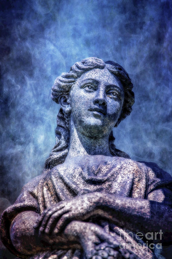 Cemetery Monument Statue Ver Two Digital Art