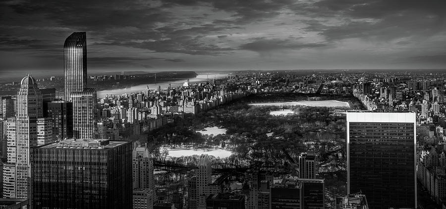 Black And White Photograph - Central Park in Winter by Serge Ramelli