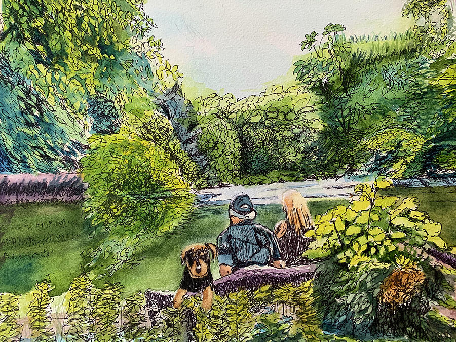 Park Painting - Central  Park by Lynne Atwood