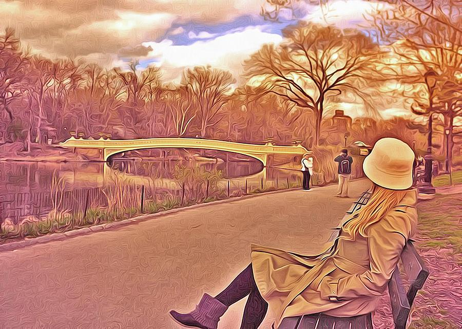 Central Park New York City 3 Digital Art By John Shepherd