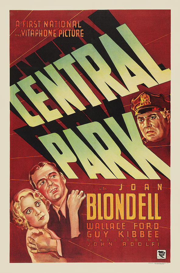 central Park, With Joan Blondell, 1932 Mixed Media