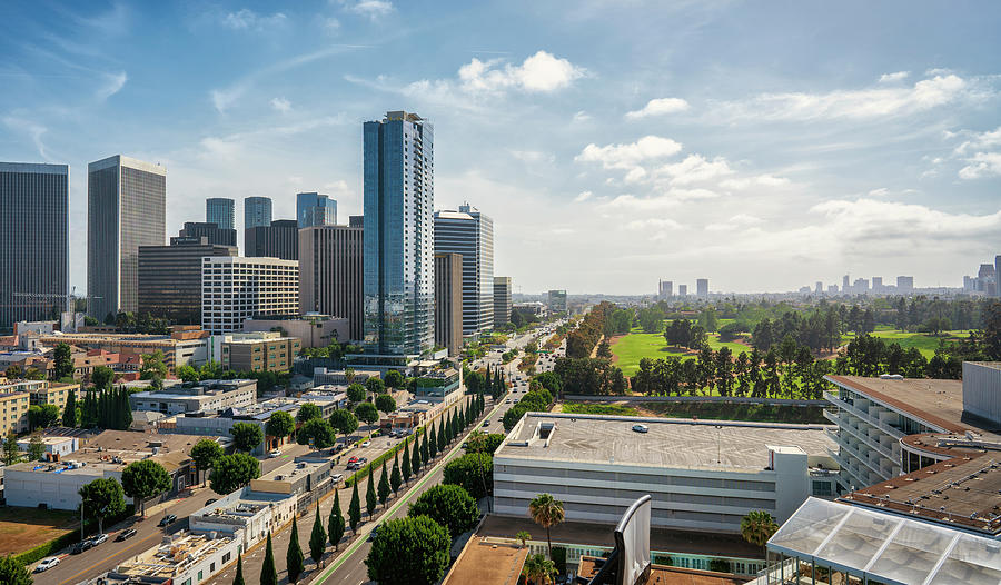 Architecture Photograph - Century City Los Angeles by Michael Hope