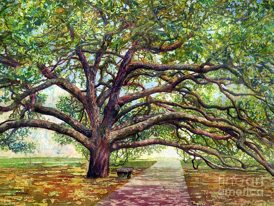 Oak Painting - Century Tree 2 by Hailey E Herrera