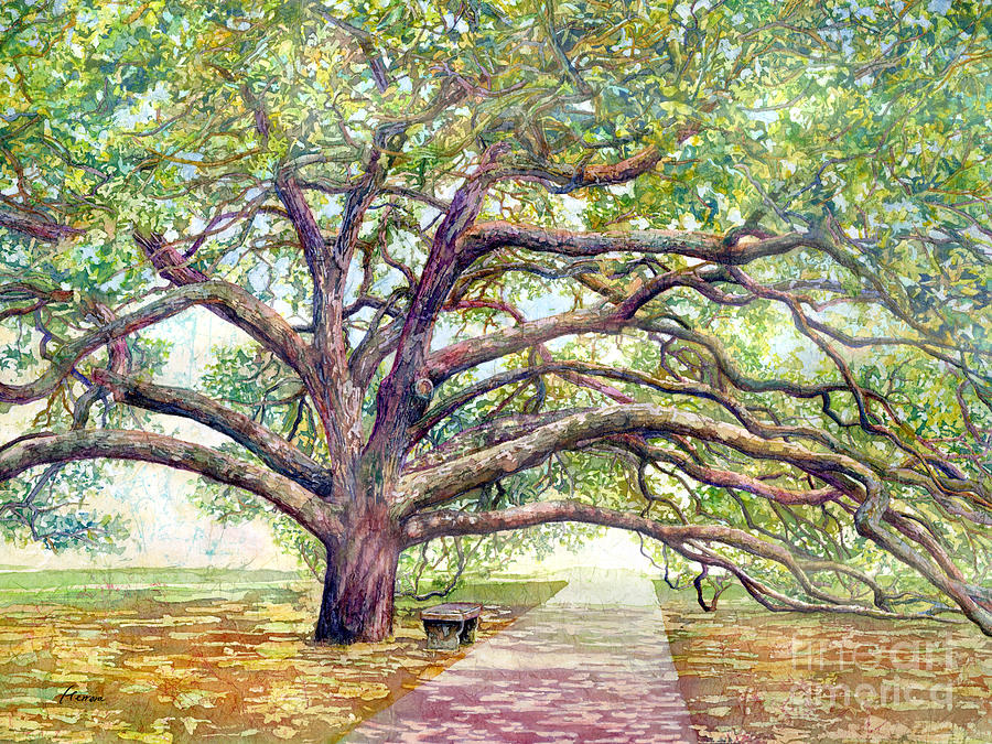 Century Tree-pastel Colors Painting